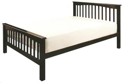 Sandra Hardwood High Foot End Bed Frame