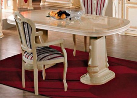 Ben Company Irene Beige Oval Extending Table
