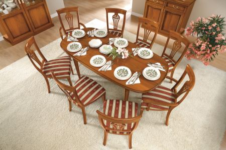 Camel Group Nostalgia Walnut Oval Table With 2 Extensions