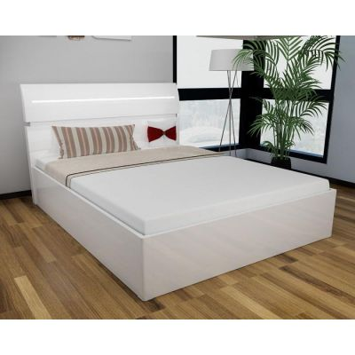 Regency High Gloss Storage Bed (White)