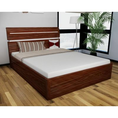 Regency High Gloss Storage Bed (Walnut)