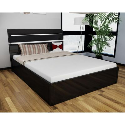 Regency High Gloss Storage Bed (Black)