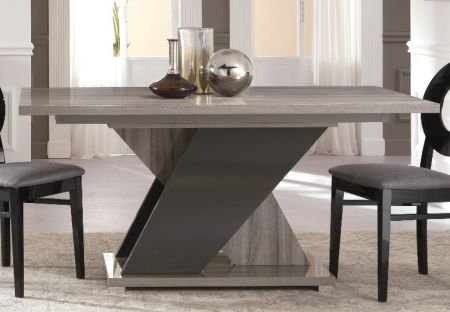 San Martino Glamour Grey Walnut Rectangular Wooden Table With Extension