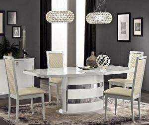 Camel Group Roma White High Gloss Extending Dining Table