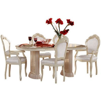 Camel Group Rossella Ivory Dining Table With Extension