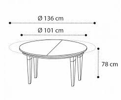 Camel Group Treviso Cherry Round Extendable Dining Table with 1 Extensions