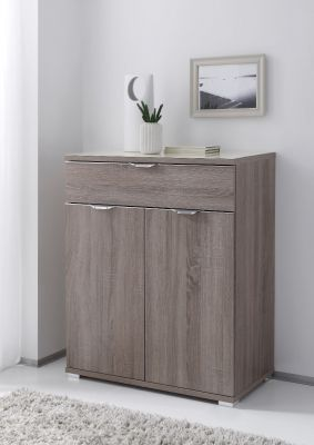 STAUD Rubin 2+1 Chest with Decor Truffle Oak Body and Front