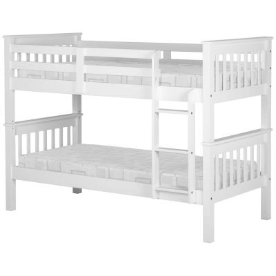 Sandra White Finish Hardwood Bunk Beds