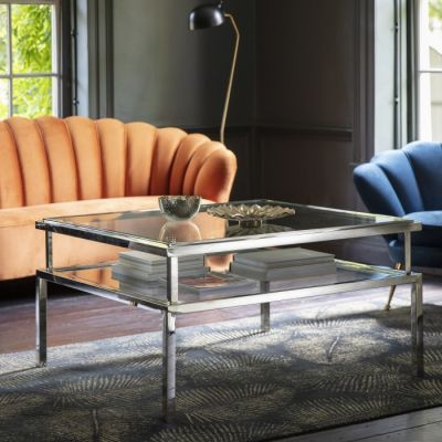 Hudson Living Salerno Coffee Table Silver