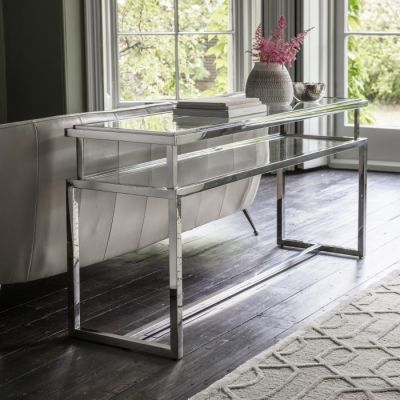 Hudson Living Salerno Console Table Silver