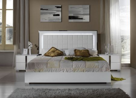 H2O Design San Marino White Bed