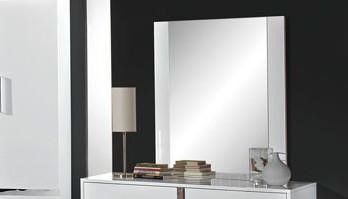 H2O Design San Marino White Mirror