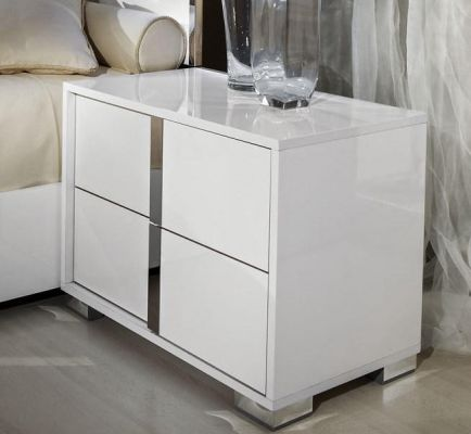 H2O Design San Marino White Night Table