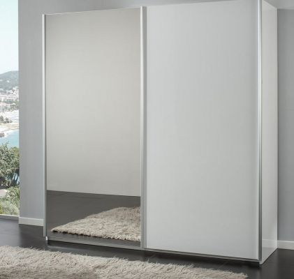 H2O Design San Marino White 2 Door Sliding Wardrobe