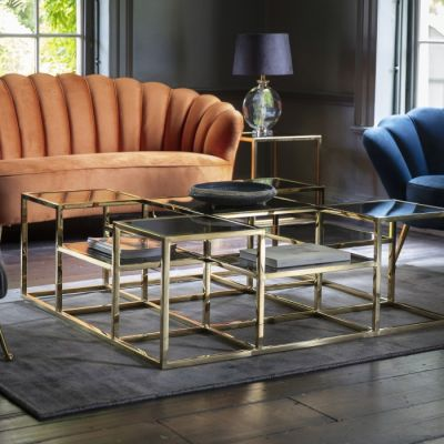 Hudson Living Santorini Coffee Table Gold