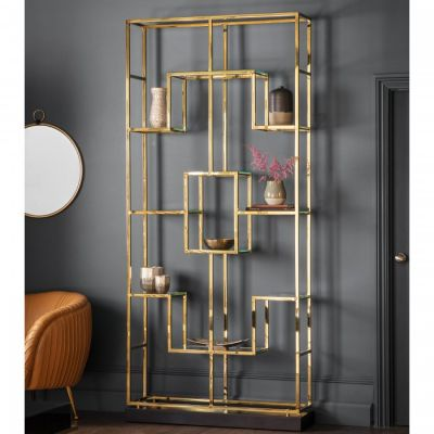 Hudson Living Santorini Open Display Unit Gold