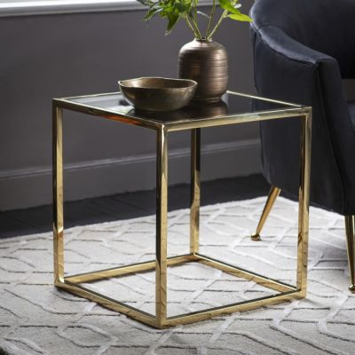 Hudson Living Santorini Side Table Gold