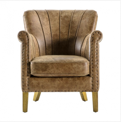 Hudson Living Hickman Armchair Brown Leather