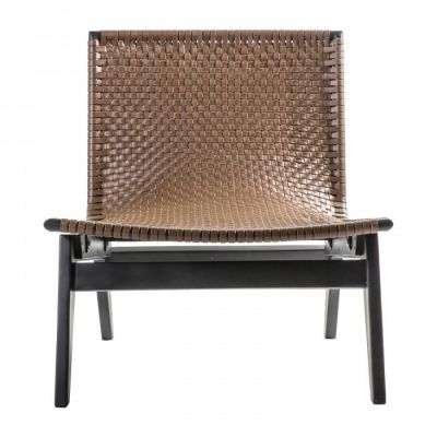 Hudson Living Seville Lounge Chair Brown Leather