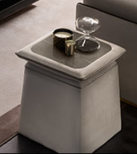 Arredoclassic Adora Allure Small Side Table with top in stone and higher height