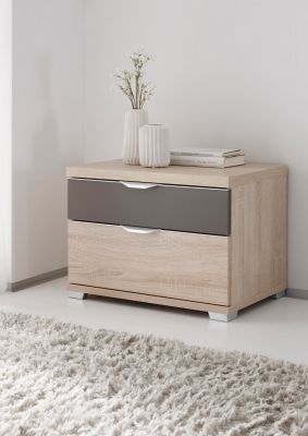 STAUD Sinfonie Plus Bedside with Sonoma oak and part Colour Anthracite Finish.
