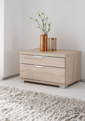 STAUD Sinfonie Plus Bedside with 2 Drawers in Sonoma oak Finish.