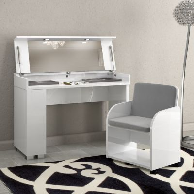 Status Dream Vanity Dresser In White High Gloss