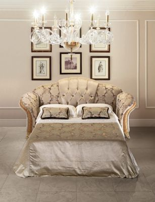 Arredoclassic Melodia 3 Seater Button Back Sofa Bed