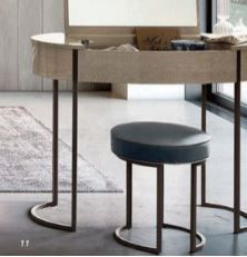 Camel Group Round Dressing Table Stool