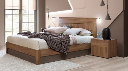 Camel Group Storm Walnut Finish Bed Frame