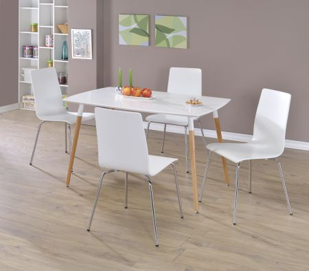 Dove Rectangle Set With Four Chairs