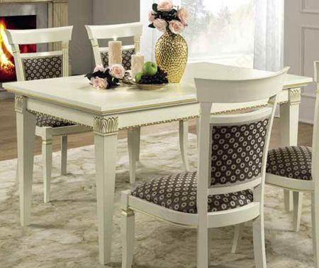 Camel Group Treviso White Ash Rectangular Extendable Dining Table with 2 Extensions