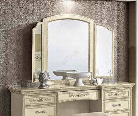 Camel Group Torriani Ivory Mirror with 2 lateral Mirrors