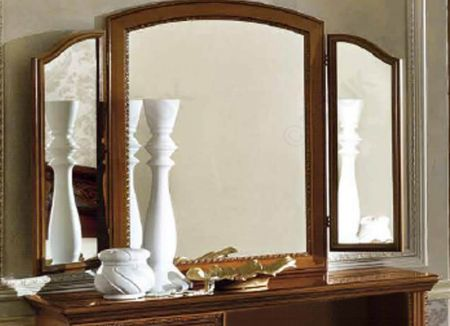 Camel Group Torriani Walnut Mirror with 2 lateral Mirrors