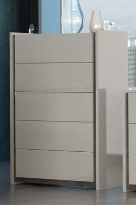 Tuttomobili Valentina Grey Tall Chest Of Drawers