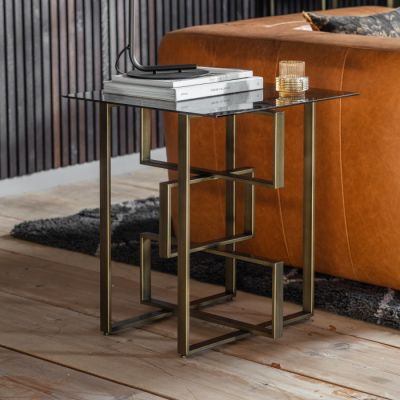 Hudson Living Thornton Side Table Bronze