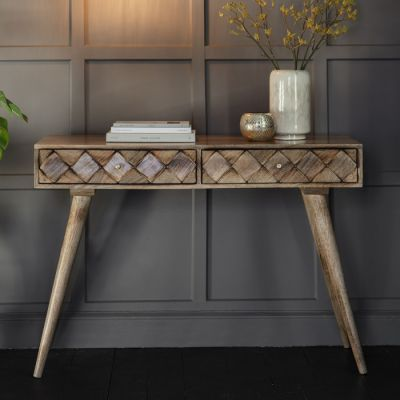 Hudson Living Tuscany Console Table Burnt Wax