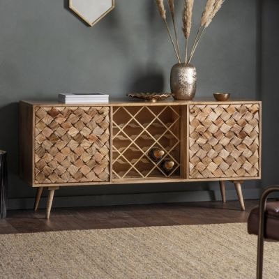 Hudson Living Tuscany Wine Sideboard Burnt Wax