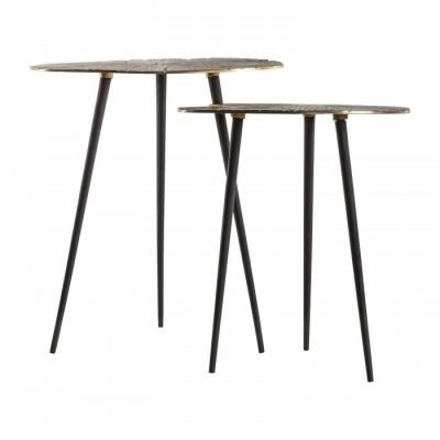 Hudson Living Valence Nest of 2 Tables Gold