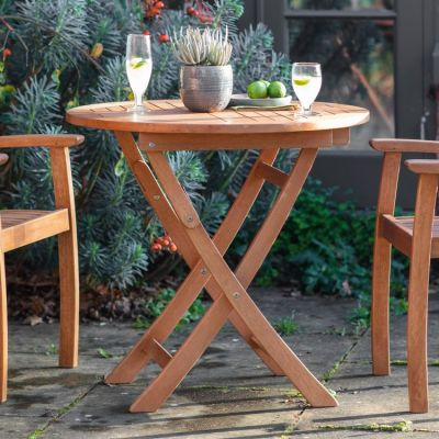 Hudson Living Valencia Outdoor Round Folding Table