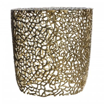 Hudson Living Verdant Side Table Gold