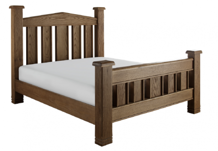 Vermont Distinctive Solid Wood Bedroom Range in a Natural Oak and High Gloss Finish