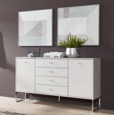 WIEMANN Vigo Combi dresser, 5 drawers in centre, 2 outer doors with 1 shelf behind finish with Angled feet