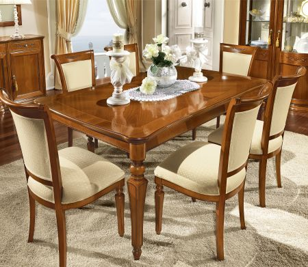 Camel Group Torriani Walnut Rectangular Table With 2 Extensions