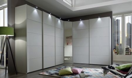 Westside VIP Sliding Door wardrobes Handles ledges and trims in Champagne Finish