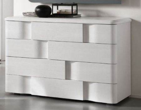 Euro Design Levante Bianco 4 Drawer Chest